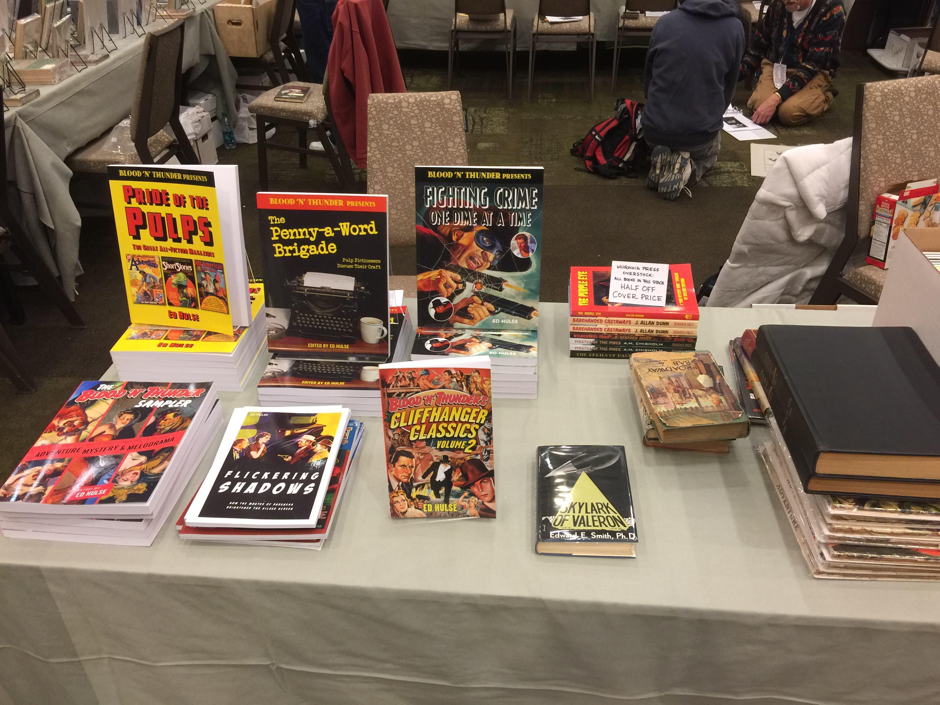 Murania Press had a table